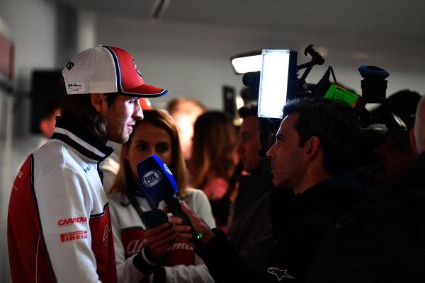 Antonio Giovinazzi, Alfa Romeo Racing talks with the media