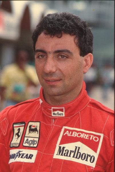 Formula 1 World Championship.Michele Alboreto (Ferrari).Ref-A3A 05.World - LAT Photographic