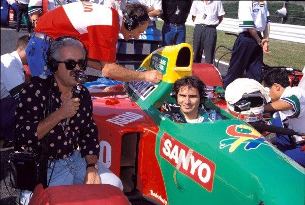 Nelson Piquet, Benetton B190 Ford, on the grid.