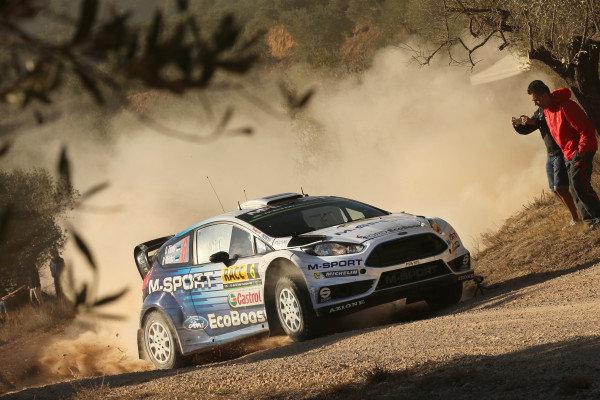 Ott Tanak (EST) / Raigo Molder (EST) Ford Fiesta RS WRC at FIA World Rally Championship, Rd12, RAAC Rally de Espana, Day One, Costa Daurada, Catalunya, Spain, 23 October 2015.