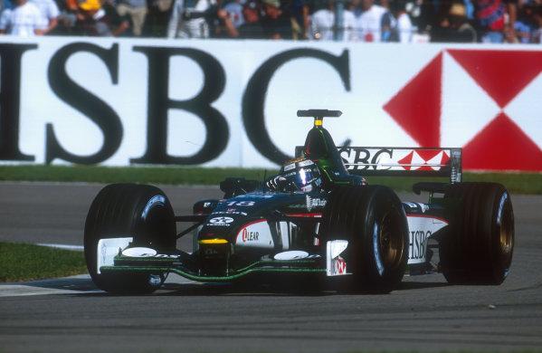 2001 United States Grand Prix.Indianapolis, Indiana, USA.28-30 September 2001.Eddie Irvine (Jaguar R2) 4th position.Ref-01 USA 11.World Copyright - LAT Photographic
