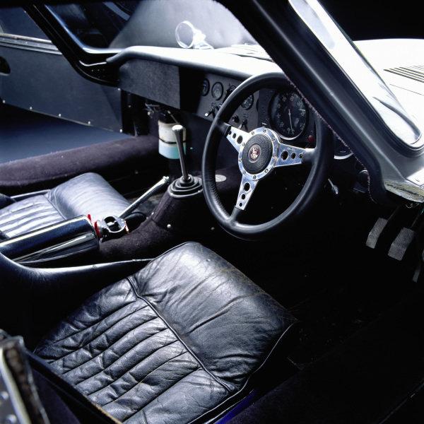 Jaguar E-Type Lightweight, 1964. The rebuilt car of Peter Lindner. Frankfurt, Germany.