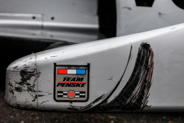 11-13 March, 2016, St. Petersburg, Florida USA Winner Juan Pablo Montoya in Victory Lane - Penske Logo, tire rub mark ?2016, Michael L. Levitt LAT Photo USA