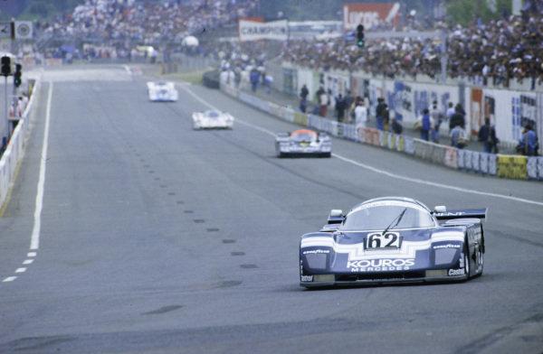 1986 Le Mans 24 hours. Le Mans, France. 31st May - 1st June 1986. Henri Pescarolo / Christian Danner / Dieter Quester (Sauber C8 Mercedes), retired, action.  World Copyright: LAT Photographic.  Ref:  86LM90