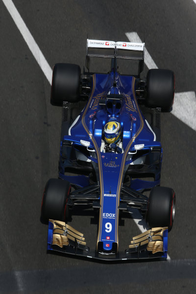 Baku City Circuit, Baku, Azerbaijan. Friday 23 June 2017. Marcus Ericsson, Sauber C36 Ferrari. World Copyright: Charles Coates/LAT Images ref: Digital Image AX0W5661