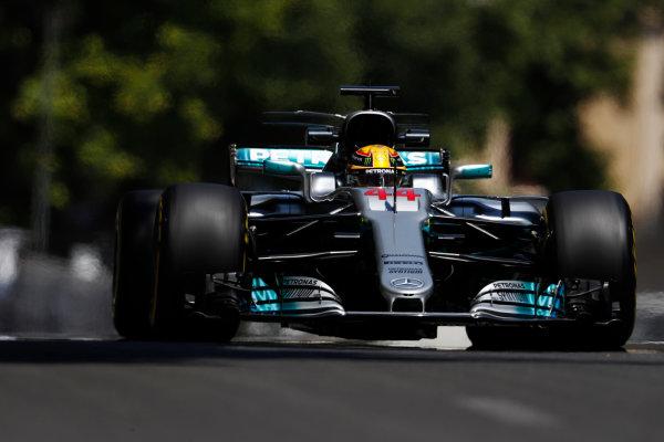 Baku City Circuit, Baku, Azerbaijan. Friday 23 June 2017. Lewis Hamilton, Mercedes F1 W08 EQ Power+.  World Copyright: Glenn Dunbar/LAT Images ref: Digital Image _X4I9928