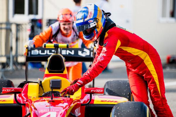 2017 FIA Formula 2 Round 9. Autodromo Nazionale di Monza, Monza, Italy. Friday 1 September 2017. Gustav Malja (SWE, Racing Engineering).  Photo: Zak Mauger/FIA Formula 2. ref: Digital Image _54I6148