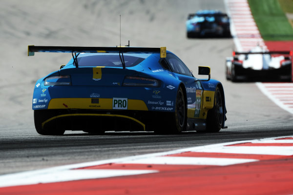 2017 FIA World Endurance Championship, COTA, Austin, Texas, USA. 14th-16th September 2017, #97 Aston Martin Racing Aston Martin Vantage: Darren Turner, Jonny Adam, Daniel Serra  World Copyright. May/JEP/LAT Images