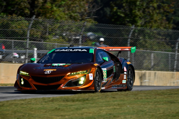 IMSA WeatherTech SportsCar Championship Motul Petit Le Mans Road Atlanta, Braselton GA Thursday 5 October 2017 86, Acura, Acura NSX, GTD, Oswaldo Negri Jr., Jeff Segal, Tom Dyer World Copyright: Richard Dole LAT Images ref: Digital Image RDPLM021