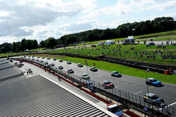 2017 MINI Challenge, Brands Hatch, Kent. 5th - 6th August 2017. MINI Challenge grid. World Copyright: JEP/LAT Images.