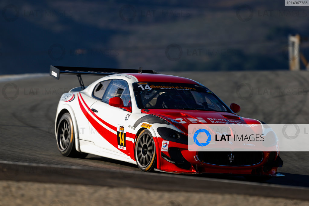 IMSA Continental Tire SportsCar Challenge Mazda Raceway Laguna Seca 240 Mazda Raceway Laguna Seca Monterey, CA USA Friday 22 September 2017 14, Maserati, Maserati GT4, GS, Memo Gidley, Cavan O'Keefe, Michael McAleenan World Copyright: Jake Galstad LAT Images