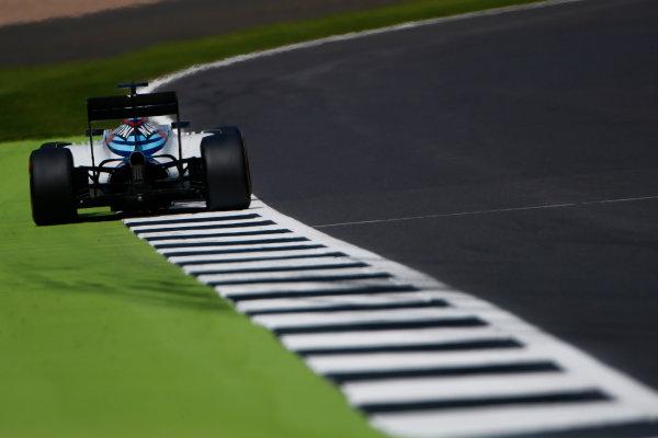 Silverstone, Northamptonshire, UK Friday 8 July 2016. Felipe Massa, Williams FW38 Mercedes. World Copyright: Hone/LAT Photographic ref: Digital Image _ONY7686