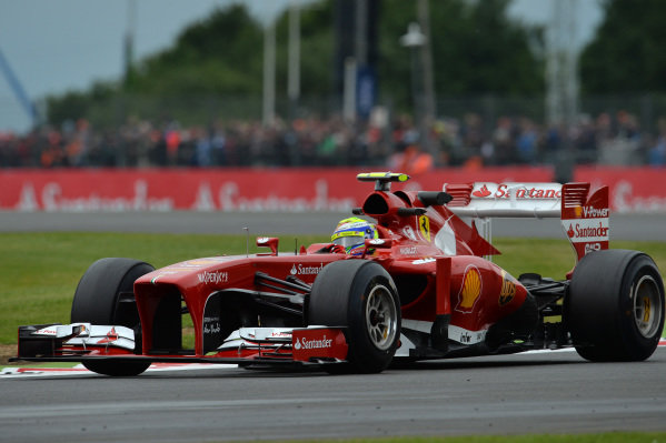Felipe Massa (BRA) Ferrari F138. Formula One World Championship, Rd8, British Grand Prix, Practice, Silverstone, England, Friday 28 June 2013.