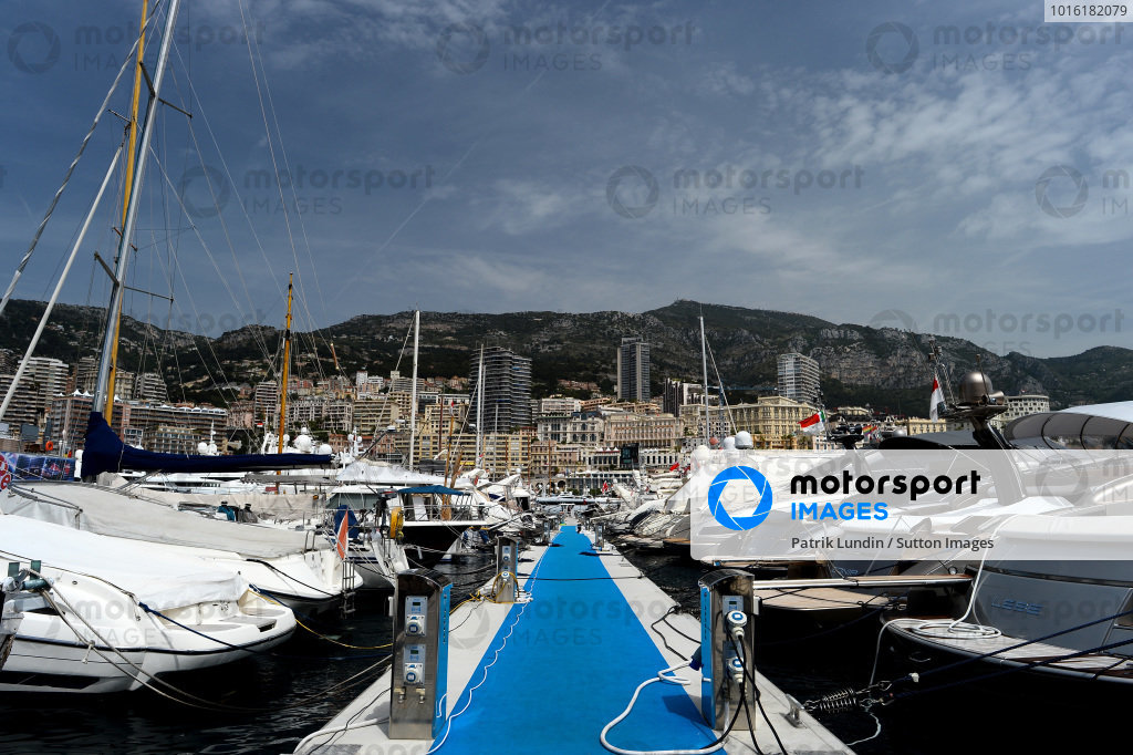 Scenic Monaco and yachts in the harbour. Formula One World Championship, Rd6, Monaco Grand Prix, Preparations, Monte-Carlo, Monaco, Wednesday 21 May 2014.