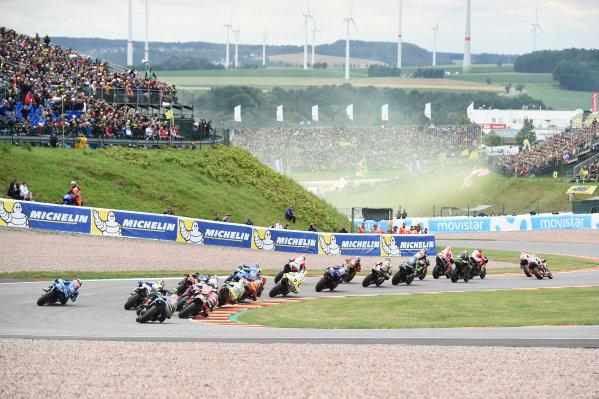 2017 MotoGP Championship - Round 9 Sachsenring, Germany Sunday 2 July 2017 Marc Marquez, Repsol Honda Team, race start World Copyright: Gareth Harford/LAT Images ref: Digital Image 34106