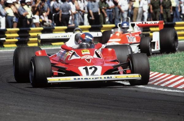 Buenos Aires, Argentina. 13 - 15 January 1978.Gilles Villeneuve (Ferrari 312T2), 8th position, action. World Copyright: LAT Photographic.Ref:  78ARG30.