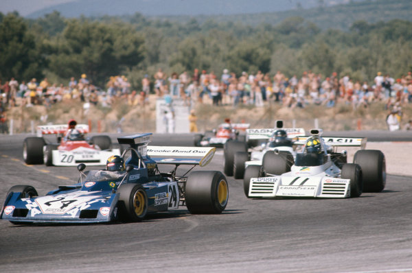 1973 French Grand Prix.  Paul Ricard, Le Castellet, France. 29th June - 1st July 1973.  Carlos Pace, Surtees TS14A Ford, leads Wilson Fittipaldi, Brabham BT42 Ford.  Ref: 73FRA03. World Copyright: LAT Photographic
