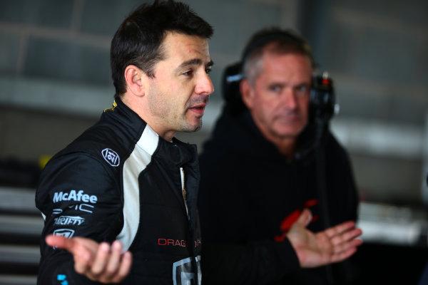 FIA Formula E Test Day, Donington Park, UK.  19th August 2014. Oriol Servia, Dragon Racing. Photo: Malcolm Griffiths/FIA Formula E ref: Digital Image F80P9185
