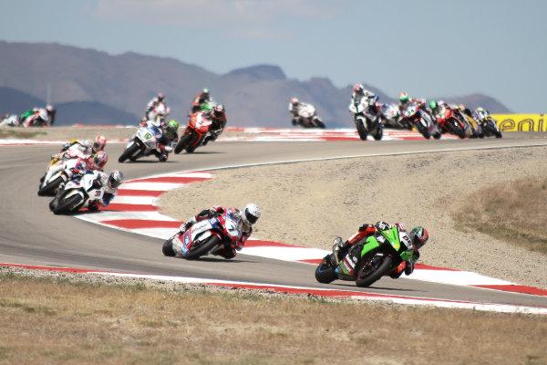 28 May 2012, Miller Motorsports Park, Tooele, Utah USARace StartWorld Copyright: Rebecca McKay/LAT Photographic