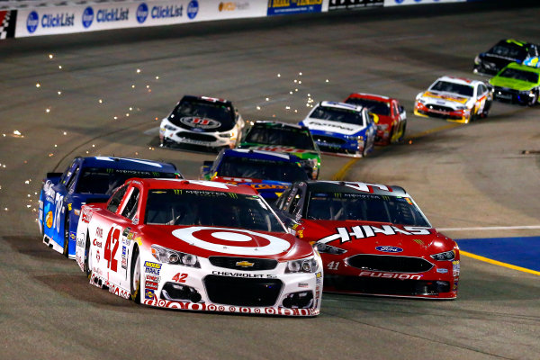 Monster Energy NASCAR Cup Series Federated Auto Parts 400 Richmond Raceway, Richmond, VA USA Saturday 9 September 2017 Kyle Larson, Chip Ganassi Racing, Target Chevrolet SS and Kurt Busch, Stewart-Haas Racing, Haas Automation/Monster Energy Ford Fusion World Copyright: Russell LaBounty LAT Images