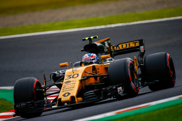 Suzuka Circuit, Japan. Saturday 7 October 2017. Jolyon Palmer, Renault R.S.17.  World Copyright: Andrew Hone/LAT Images  ref: Digital Image _ONZ3319