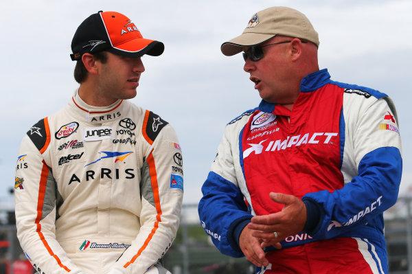 16-17 May, 2015, Newton, Iowa, USA Daniel Suarez, Arris Toyota Camry, Todd Bodine ?2015, Brett Moist LAT Photo USA