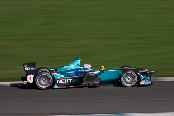 FIA Formula E Second Pre-Season Testing Event. Donington Park Racecourse, Derby, United Kingdom. Nelson Piquet Jr, NexEV NIO, Spark-NEXTEV. Photo: Alastair Staley / LAT ref: Digital Image 585A7020