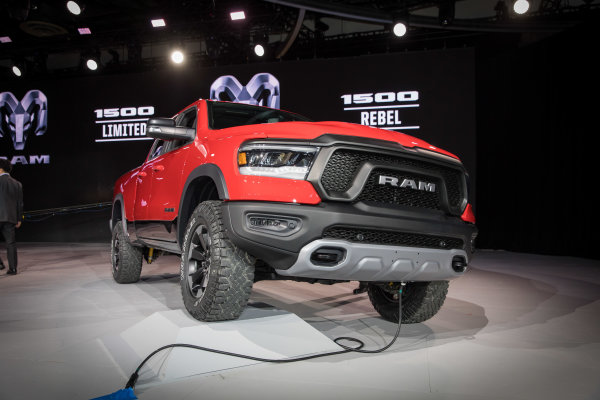 2019 Ram 1500 debuts at the 2018 North American International Auto Show in Detroit.