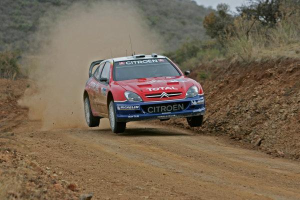 2005 FIA World Rally Champs. Round threeRally Mexico.10th - 13th March 2005.Sebastien Loeb, Citroen, action.World Copyright: McKlein/LAT