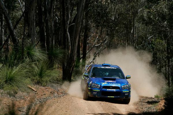 2004 FIA World Rally Champs. Round Sixteen, Rally Australia.11th - 14th November 2004.Niall McShea, Subaru, action.World Copyright: McKlein/LAT