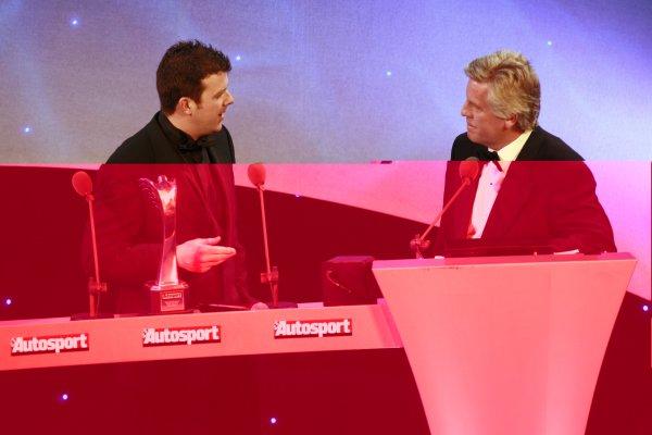 2006 Autosport AwardsGrosvenor House Hotel, London. 3rd December 2006.National Rally Driver Mark Higgins accepts his award.World Copyright: Malcolm Griffiths/LAT Photographicref: Digital Image _MG_2220