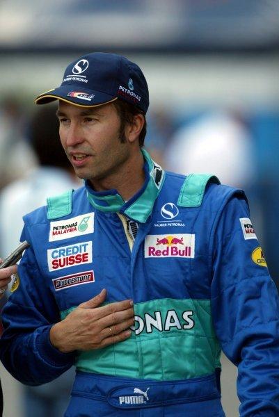 Heinz-Harald Frentzen (GER) Sauber.Formula One World Championship, Rd15, United States Grand Prix, Indianapolis, USA, 27 September 2003.DIGITAL IMAGE