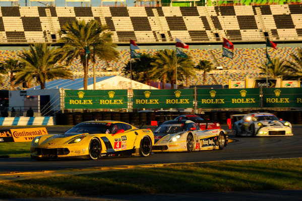 22-25 January, 2015, Daytona Beach, Florida USA 4, Chevrolet, Corvette C7.R, GTLM, Oliver Gavin, Tommy Milner, Simon Pagenaud, 5, Chevrolet, Corvette DP, P, Joao Barbosa, Christian Fittipaldi, Sebastien Bourdais ?2015, F. Peirce Williams LAT Photo USA