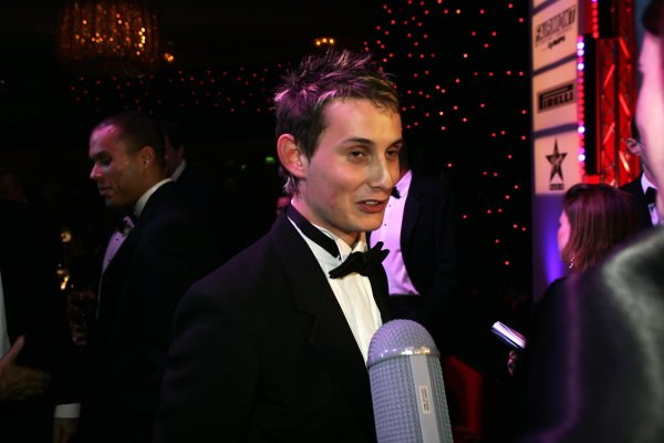 2005 Autosport AwardsGrosvenor House, London. 4th December.McLaren Autosport BRDC Young Driver Award winner Oliver Jarvis faces the media.World Copyright: Malcolm Griffiths/LAT Photographicref: Digital Image Only