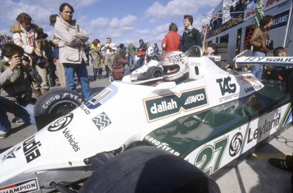 1980 Canadian Grand Prix.Montreal, Canada. 26-28 September 1980.Alan Jones (Williams FW07B-Ford Cosworth), 1st position.World Copyright: LAT PhotographicRef: 35mm transparency 80CAN02