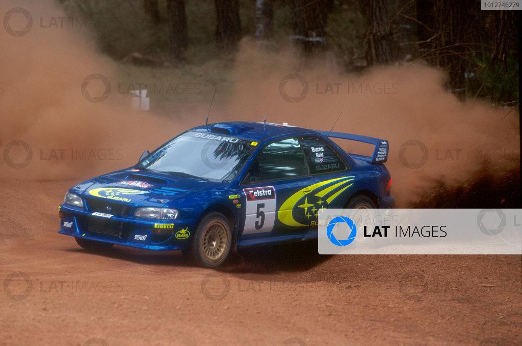 1999 World Rally ChampionshipRally Australia. 4th - 7th November 1999.Rally winner Richard Burns, Subaru Impreza, action.World Copyright: McKlein/LAT Photographic