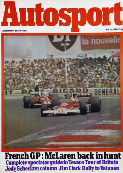 Cover of Autosport magazine, 8th July 1976