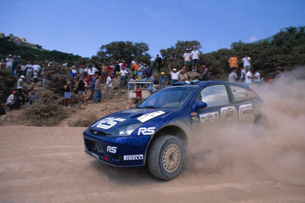 2002 World Rally ChampionshipAcropolis Rally, Greece. 13th - 16th June 2002.Marko Martin/Michael Park, Ford Focus RS WRC02, action.World Copyright: McKlein/LAT Photographicref: 35mm Image A13