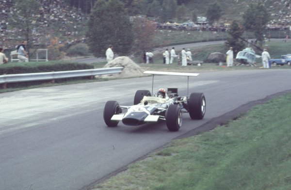 1968 Canadian Grand Prix.Mont-Tremblant, (St. Jovite), Quebec, Canada.20-22 September 1968.Jo Siffert (Lotus 49B Ford).Ref-68 CAN 51.World Copyright - LAT Photographic