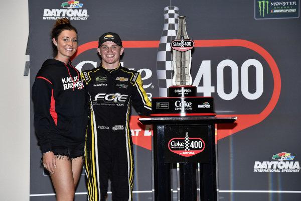 #77: Justin Haley, Spire Motorsports, Chevrolet Camaro Fraternal Order of Eagles wins