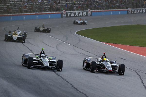 Josef Newgarden, Team Penske Chevrolet, Spencer Pigot, Ed Carpenter Racing Chevrolet