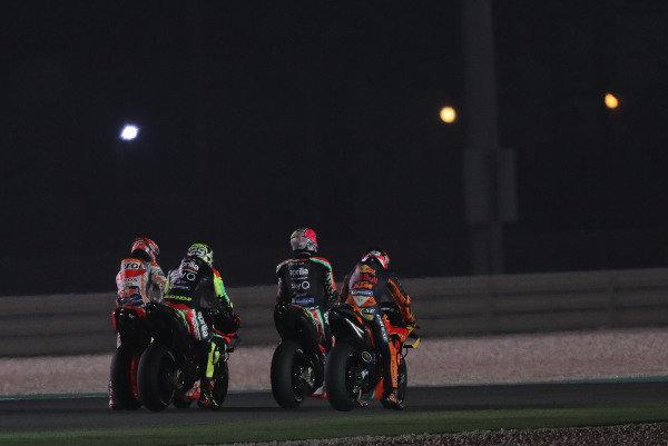 Marc Marquez, Repsol Honda Team, Andrea Iannone, Aprilia Racing Team Gresini, Aleix Espargaro, Aprilia Racing Team Gresini, Pol Espargaro, Red Bull KTM Factory Racing.