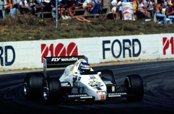 1983 South African Grand Prix.Kyalami, South Africa.13-15 October 1983.Keke Rosberg (Williams FW09 Honda) 5th position.World Copyright - LAT Photographic
