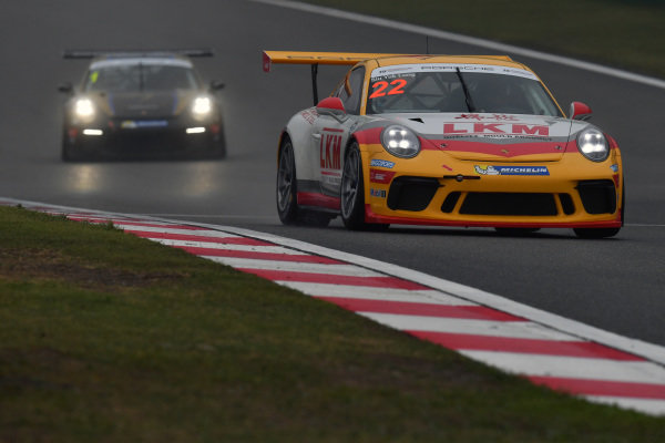 Siu Yuk Lung (HKG) LKM Racing at Porsche Carrera Cup Asia, Shanghai, China, 13-15 April 2018.