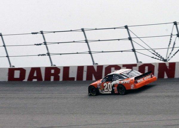 2002 NASCAR,Darlington Raceway,Aug 30-Sept 1 20022002 NASCAR, Darlington,SC. USA -Tony Stewart circles the track under a heavy overcast skyCopyright-Robt LeSieur2002LAT Photographic