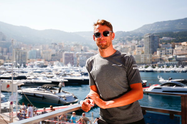 Monte Carlo, Monaco. Wednesday 24 May 2017. Jenson Button, McLaren World Copyright: Andy Hone/LAT Images ref: Digital Image _ONY7250