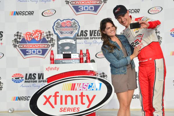 2017 NASCAR Xfinity Series - Boyd Gaming 300 Las Vegas Motor Speedway - Las Vegas, NV USA Saturday 11 March 2017 Joey Logano, Wins the Xfinity race in Las Vegas. World Copyright: John K Harrelson / LAT Images ref: Digital Image 17LAS1jh_01887