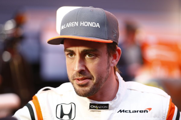 McLaren MCL32 Honda Formula 1 Launch. McLaren Technology Centre, Woking, UK. Friday 24 February 2017. Fernando Alonso, McLaren. World Copyright: Steven Tee/LAT Images Ref: _R3I5434