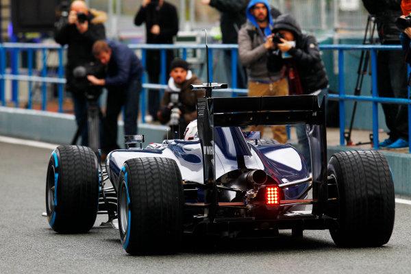 2014 F1 Pre Season Test 1 - Day 2 Circuito de Jerez, Jerez, Spain. Wednesday 29 January 2014. Valtteri Bottas, Williams FW36 Mercedes leaves the pits. World Copyright: Alastair Staley/LAT Photographic. ref: Digital Image _A8C8219.JPG