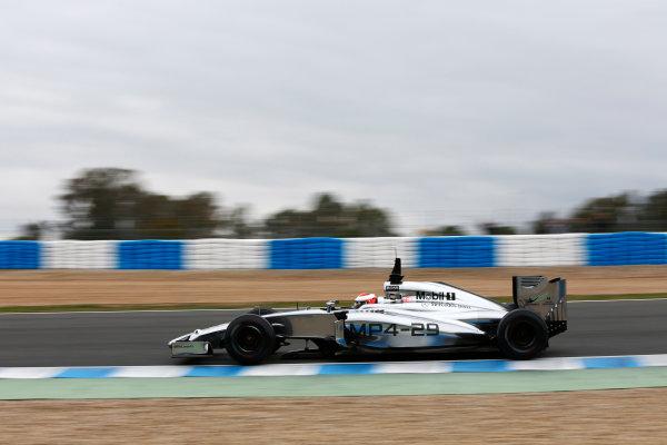2014 F1 Pre Season Test 1 - Day 4 Circuito de Jerez, Jerez, Spain. Friday 31 January 2014. Kevin Magnussen, McLaren MP4-29 Mercedes. World Copyright: Andrew Ferraro/LAT Photographic. ref: Digital Image _79P7855.JPG
